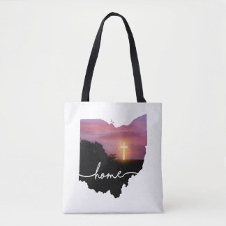 Ohio is home.... Sunset Cross Tote Bag