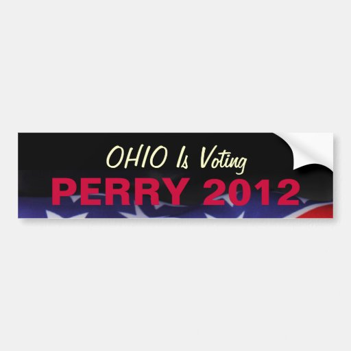 OHIO Is Voting PERRY 2012 Bumper Sticker