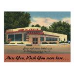 Ohio, Jerry & Bert's Restaurant, Painesville Postcard