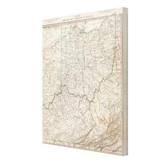Ohio, Kentucky, Virginia Gallery Wrap Canvas