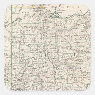 Ohio, Kentucky, Virginia Square Sticker