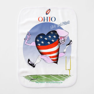 ohio loud and proud, tony fernandes baby burp cloth