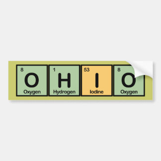 Ohio made of Elements Bumper Sticker