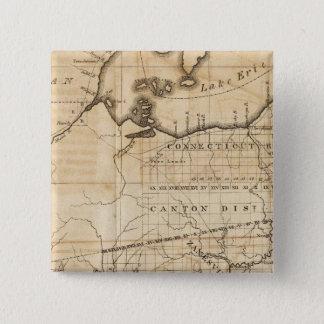 Ohio Map 15 Cm Square Badge