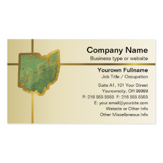 Ohio Map Business Card