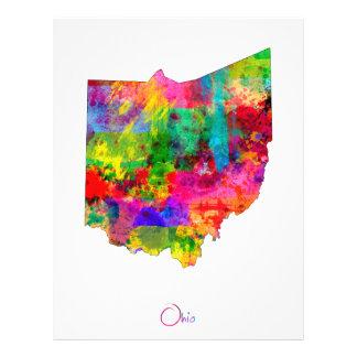 Ohio Map 21.5 Cm X 28 Cm Flyer