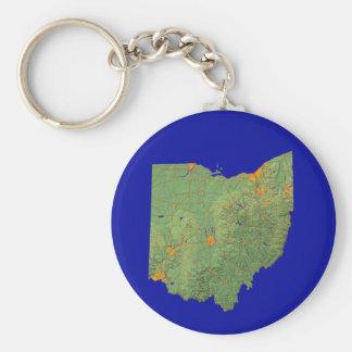 Ohio Map Keychain