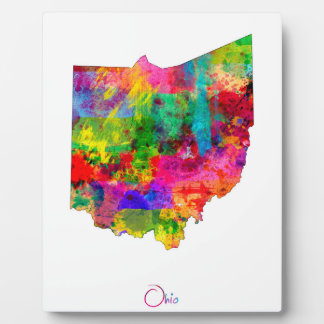 Ohio Map Photo Plaque