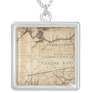 Ohio Map Silver Plated Necklace