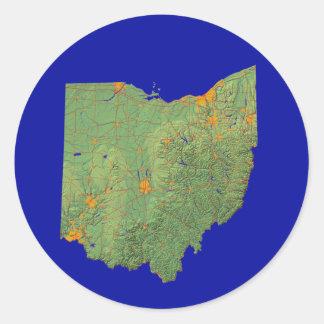 Ohio Map Sticker