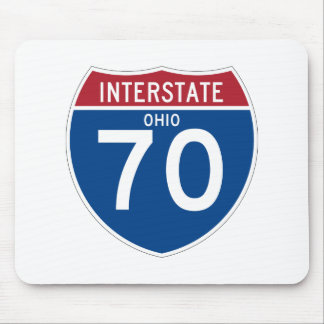 Ohio OH I-70 Interstate Highway Shield - Mouse Pad