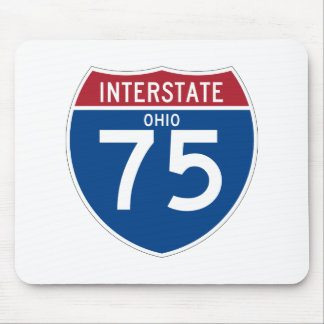 Ohio OH I-75 Interstate Highway Shield - Mouse Pad