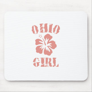 Ohio Pink Girl Mouse Pad