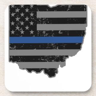 Ohio Police & Law Enforcement Thin Blue Line Coaster