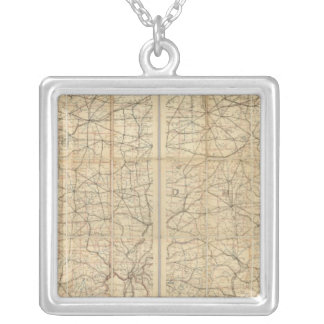 Ohio Postal Route Silver Plated Necklace