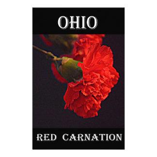 Ohio Red Carnation Custom Stationery