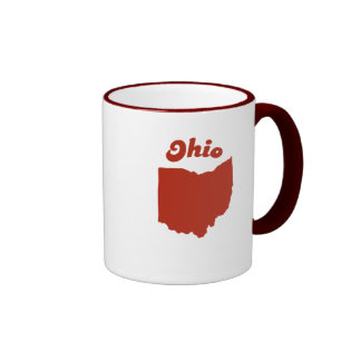 OHIO Red State Ringer Mug