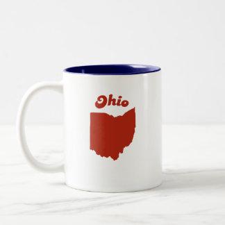 OHIO Red State Two-Tone Mug