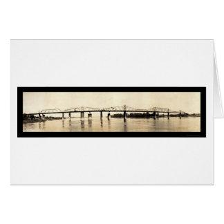 Ohio River Bridge Photo 1911 Card