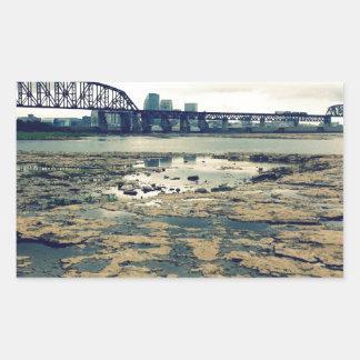 Ohio River Fossil Beds Rectangular Sticker