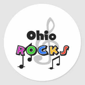 Ohio Rocks Classic Round Sticker