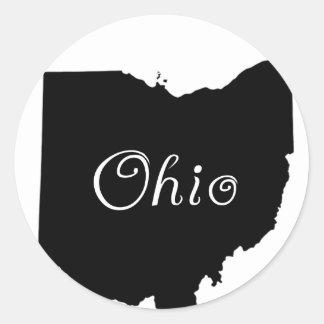 Ohio Round Sticker