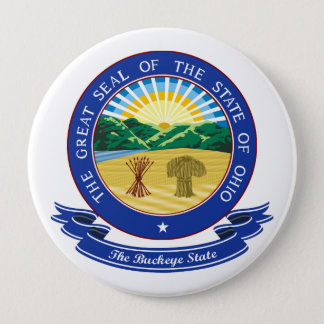 Ohio Seal 10 Cm Round Badge