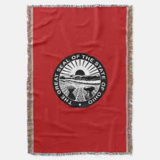 Ohio seal, American state seal Throw Blanket