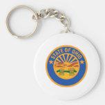 Ohio Seal Basic Round Button Key Ring