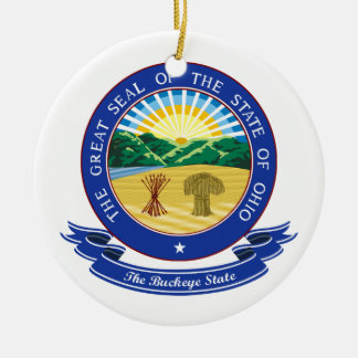 Ohio Seal Christmas Ornament