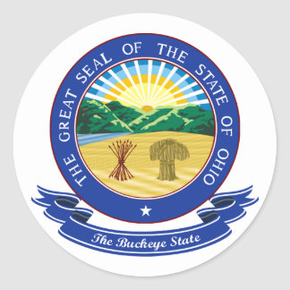 Ohio Seal Round Sticker