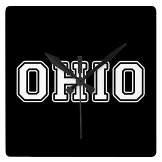 Ohio Square Wall Clock