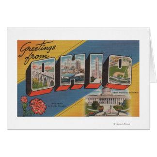 Ohio (State Capital/Flower) - Large Letter Scene Card