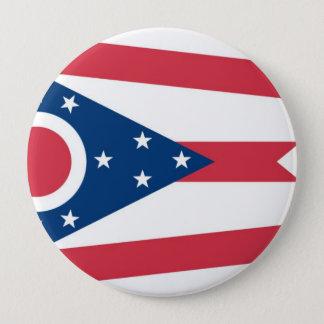 Ohio State Flag 10 Cm Round Badge