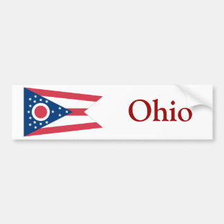 Ohio State Flag Bumper Sticker