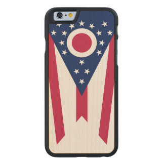Ohio State Flag Carved Maple iPhone 6 Case