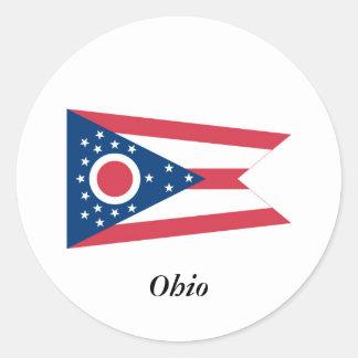 Ohio State Flag Classic Round Sticker