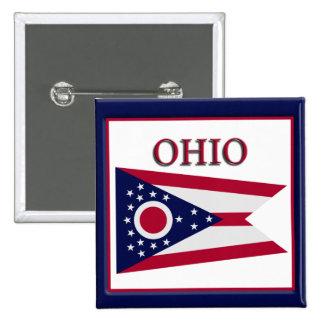 Ohio State Flag Design Button