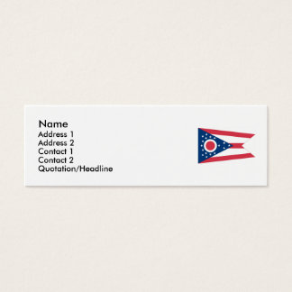 Ohio State Flag Mini Business Card
