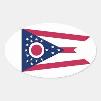 Ohio State Flag Oval Sticker