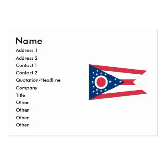 Ohio State Flag Pack Of Chubby Business Cards