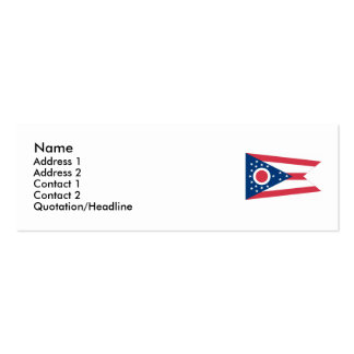 Ohio State Flag Pack Of Skinny Business Cards