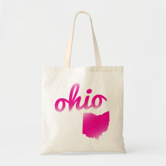 Ohio state in pink tote bag