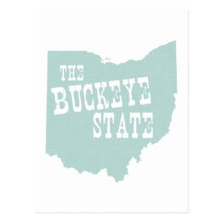 Ohio State Motto Slogan Postcard