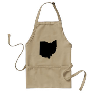 Ohio State Outline Aprons