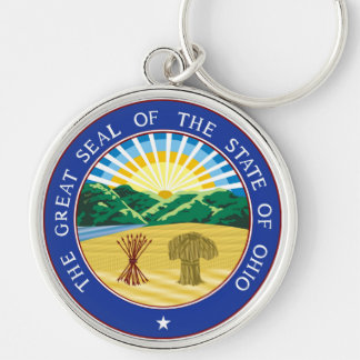 Ohio state seal america republic symbol flag key ring