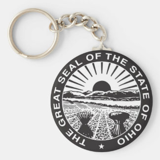 Ohio State Seal and Motto Key Ring