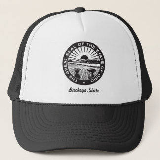 Ohio State Seal and Motto Trucker Hat