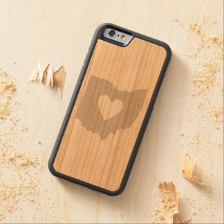 Ohio State Shape with Heart Carved Cherry iPhone 6 Bumper Case