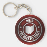 Ohio Steel (Red) Basic Round Button Key Ring